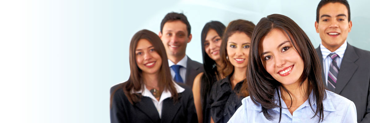 Group of young professional job seekers